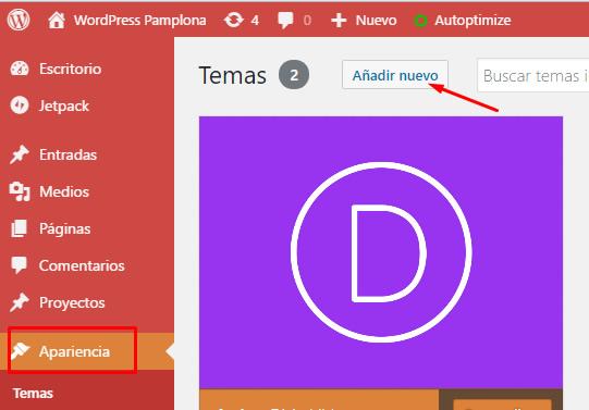 Cómo instalar una plantilla o theme de WordPress | MIGRACIONES DE ...